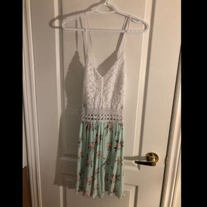 NWOT Lace and floral dress